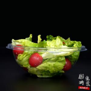 pet材质一次性塑料黑色/透明色带盖圆形的沙拉食物盒