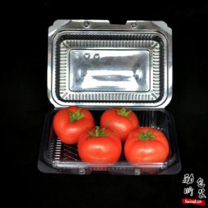 pet材质一次性塑料长方形黑色/透明色折叠沙拉盒