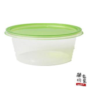 pp材质(可微波炉加热)透明的一次性塑料圆形食物盒