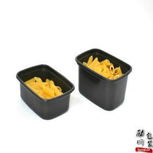 150ml/250ml pp材质可微波炉加热的黑色/透明长方形一次性带盖的塑料食物外卖盒